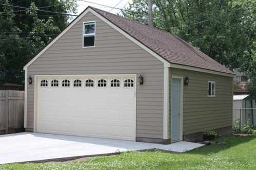 Gable roof garage design