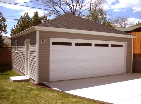 Hip roof garage design